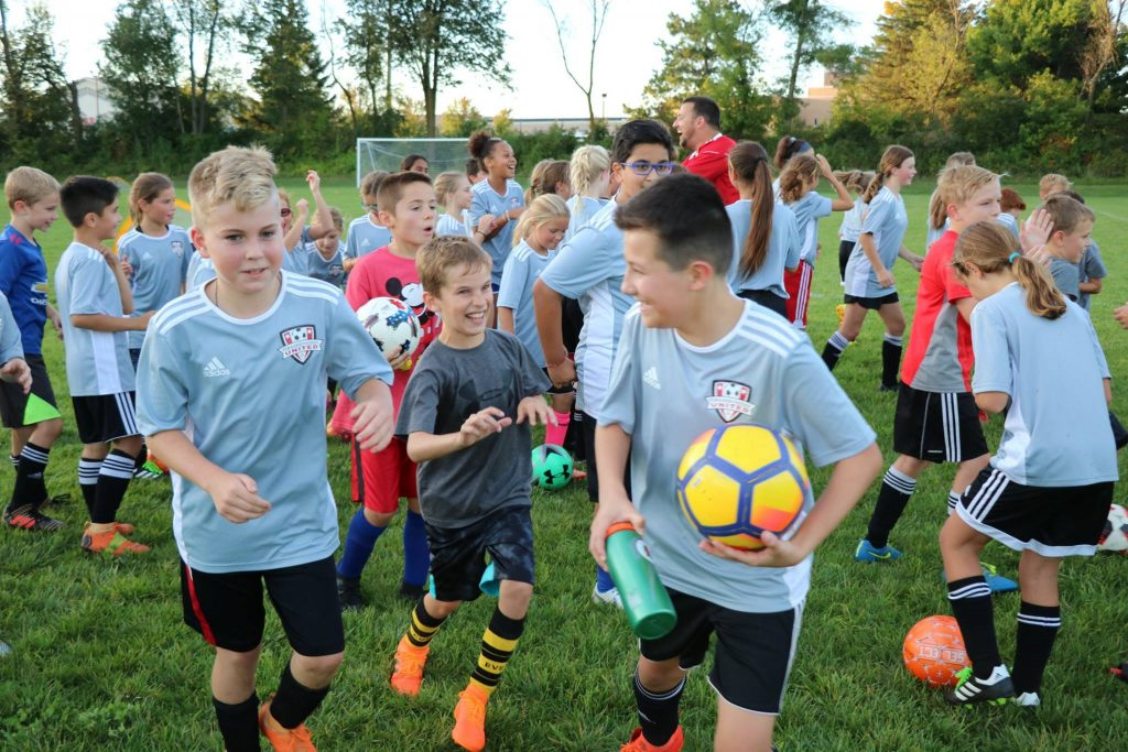 Pewaukee Sussex United soccer club players.